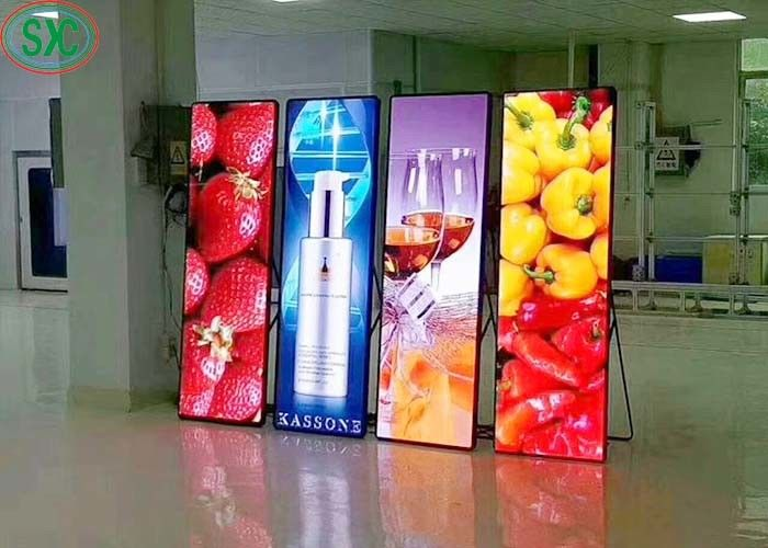 SMD2121 Indoor Advertising Led Screens With Iron And Steel Cabint